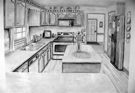 Kitchen 2 Point Perspective by One Point Perspective Drawing The Ultimate Guide