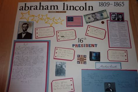 abraham lincoln biography presentation kids poster board ideas career the treadway s are