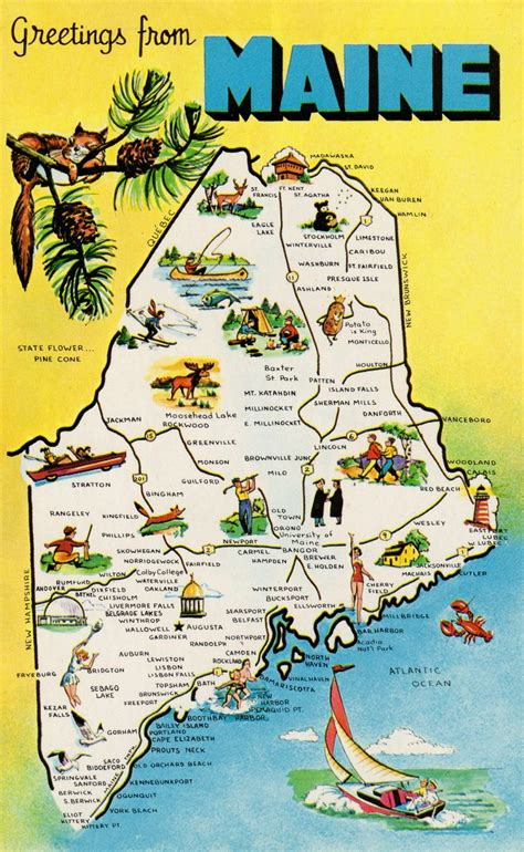 Maine The 23rd State by Pin By L P Delozier On Postcards Maine