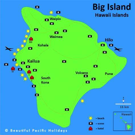 map of island big island of hawaii holidaymapq