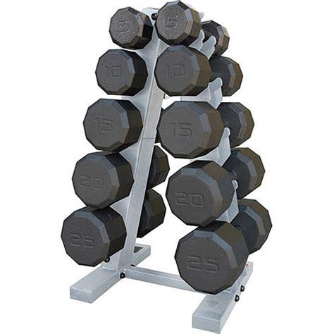 cap barbell 150 lb eco dumbbell set with rack walmart