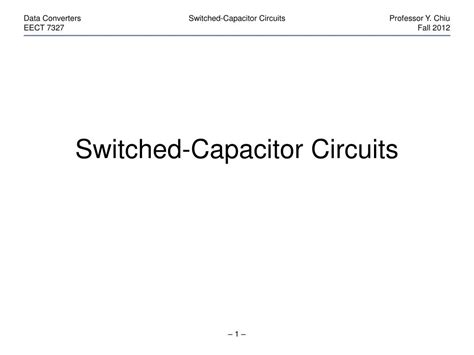 capacitor circuits ppt switched capacitor integrator ppt 28 images switched capacitor switched capacitor circuits