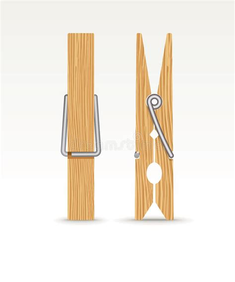 wooden cloth stock photo image of clothes clip 35717792