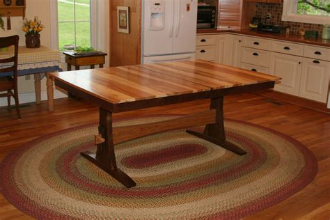 trestle table with leaves buy a custom expanding farmhouse table trestle table