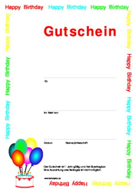 Geburtstag Gutschein Vorlagen Muster Vordruck Kostenlos Gutschein Geburtstag Zum Downloaden Und Ausdrucken