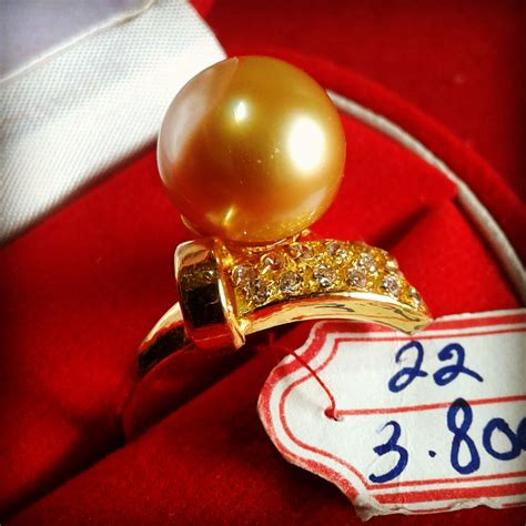 Cincin Mutiara Lombok Perhiasan Accessories 3 handmade gold ring with south sea pearl cez 50 harga mutiara lombok perhiasan toko emas