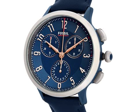 Fossil Chrono Stopwatch Silver Chain fossil s 34mm abilene sport chrono blue great daily deals at australia s