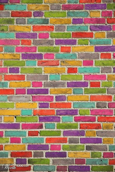 brick wall colorful living