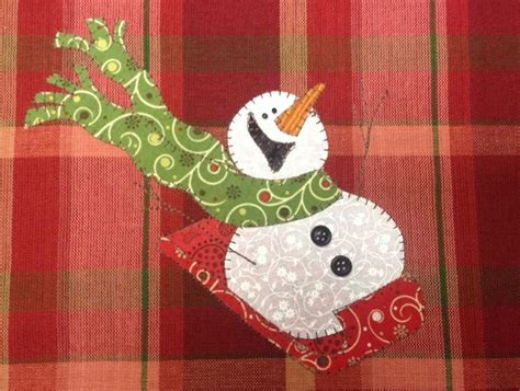 sledding a really snowman by quilt doodle craftsy