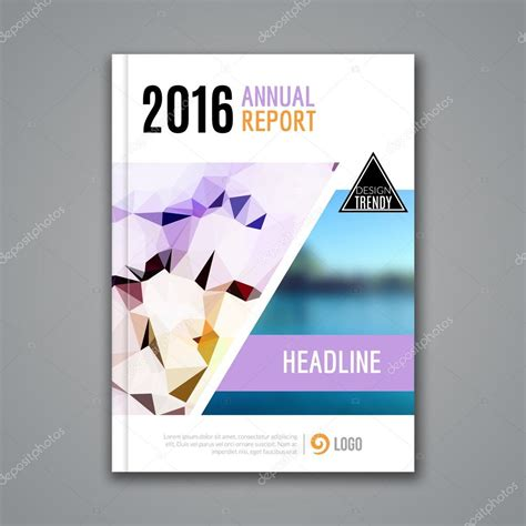 Annual Report Template Circle And Triangles Hossain Cover Report Business Colorful Triangle Polygonal
