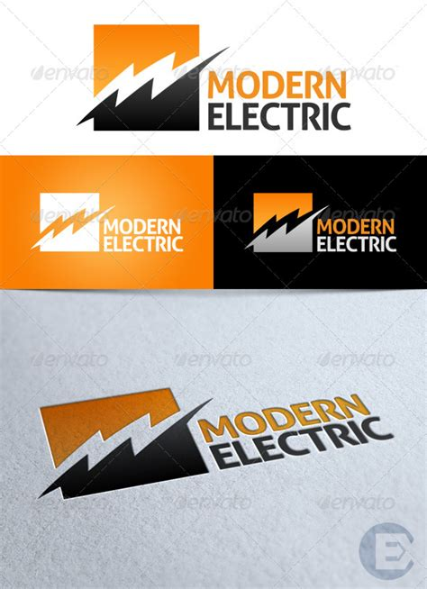 modern electric logo  exit graphicriver