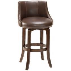 swivel leather bar stools hillsdale napa valley 25 in swivel counter stool brown leather seat at hayneedle