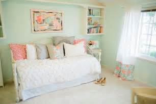 mint green bedrooms mint peachy pink my bedroom tour reveal michaela noelle designs
