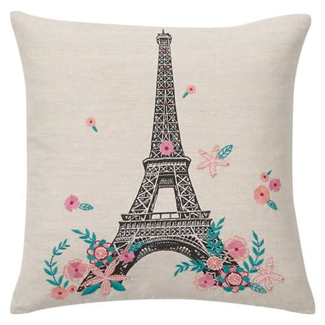 Eiffel Tower Pillows by Tres Chic Eiffel Tower Pillow Cover Pbteen