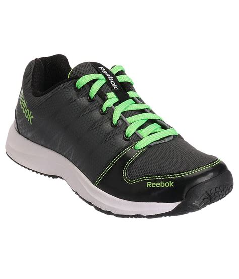 reebok cool traction grey and black sports shoes price in