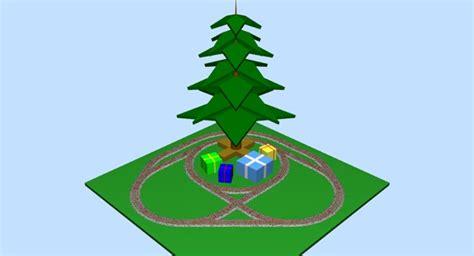 christmas track plans in o gauge around the xmas tree 2014