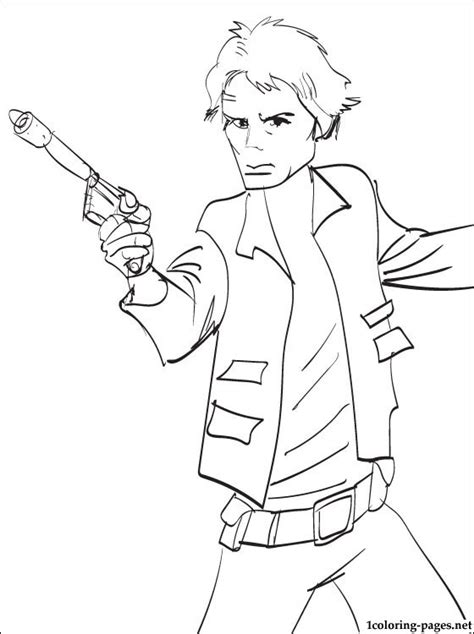 Han Coloring Pages wars han printable page to color coloring pages