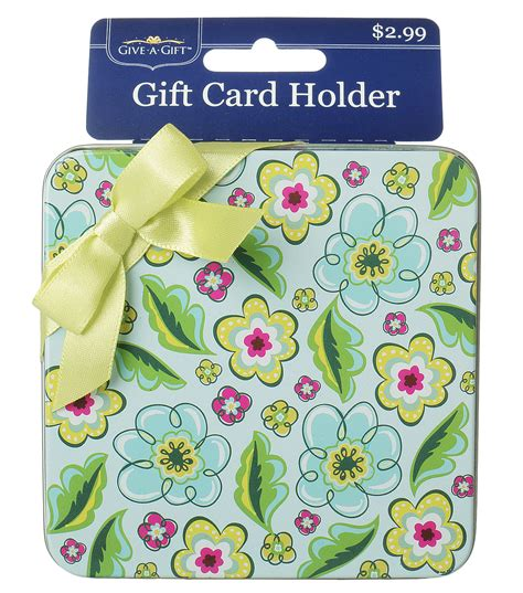 Flower Gift Card - green multi flower gift card holder jo ann