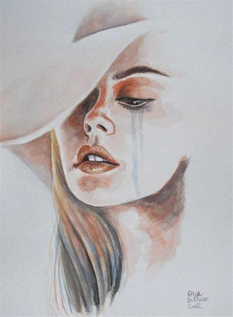 imagenes bb llorando rostro de mujer llorando en acuarela dibujos pinterest