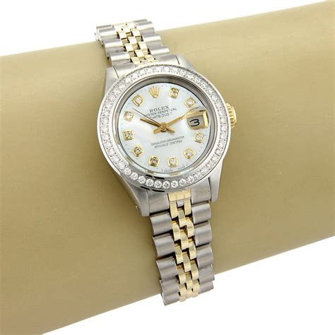 Rolex Datejust Mata Gold Premium 18k yellow gold rolex datejust w of pearl diamonds 69173 premium swiss rolex