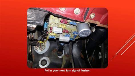 ford ranger turn signals wont flash easy  fix