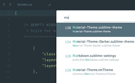sublime text 3 theme api material theme for sublime text 3 materialup