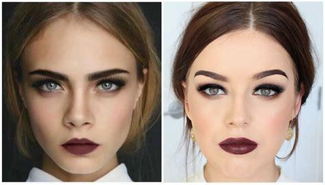Black Master Purple Santanan Brown Kulit Cara Delevingne Inspired Makeup Tutorialbudget Back To
