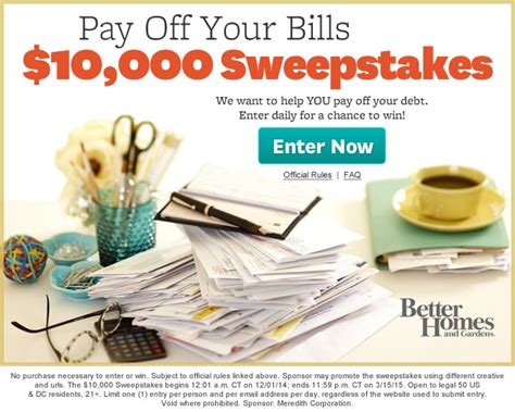 Sweepstakes To Pay Off Student Loans - enter the pay off your bills sweepstakes and win 10 000 enzasbargains com