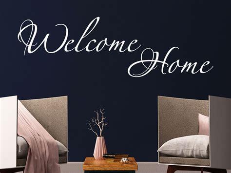 le schriftzug wandtattoo welcome home schriftzug klebeheld 174 de