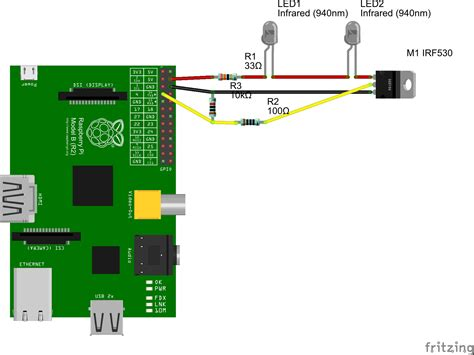 resistor for led raspberry pi resistors using 25 ir leds with raspberry pi and transistor electrical engineering stack