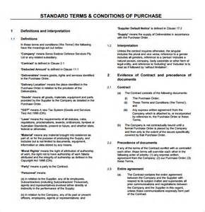 Term And Conditions Template by Sle Terms And Conditions 9 Free Documents
