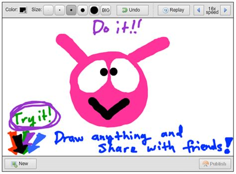 Drawing Websites by Draw And A Replay Of Your Drawing Web Cool Tips