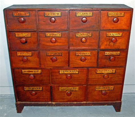 7896 Early 19th C Pine Apothecary Cabinet C1839