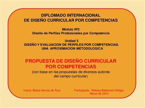 Diseño Curricular Por Competencias Profesionales Propuesta De Dise 241 O Curricular Por Competencias