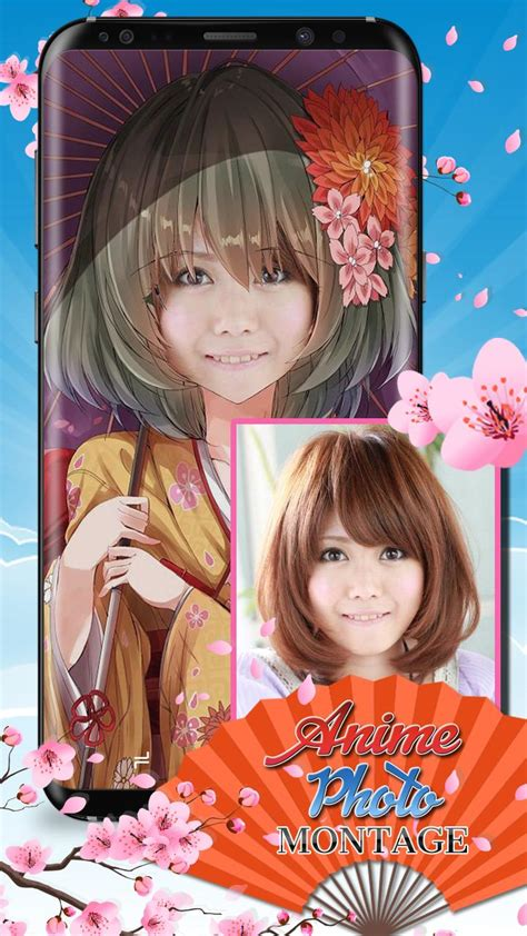 cute girl anime photo montage face changer  android