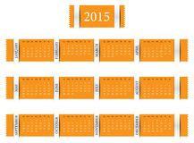 jaarkalender  vector illustratie illustratie