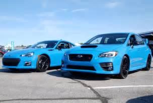 new blue color subaru reveals new hyper blue exterior color subaru