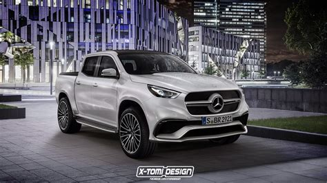 truck bed cls new merc x class pickup concept gets rendered in amg form