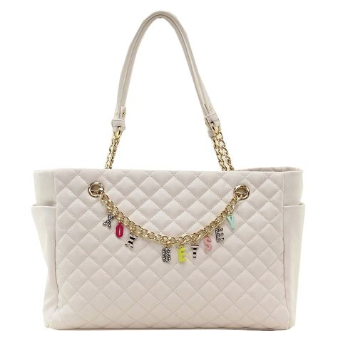 Give A Betsey Johnson by Betsey Johnson S Give Me A B Quilted Tote Handbag