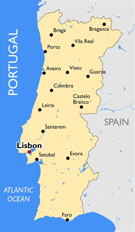 where is portugal located on the world map portugal map guide of the world