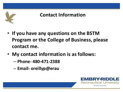 Eligibility For Mba In Airline And Airport Management by Erau Degree Briefing Bs Technical Management And Mba In