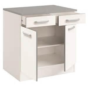 meuble bas de cuisine contemporain 80 cm 2 portes 2