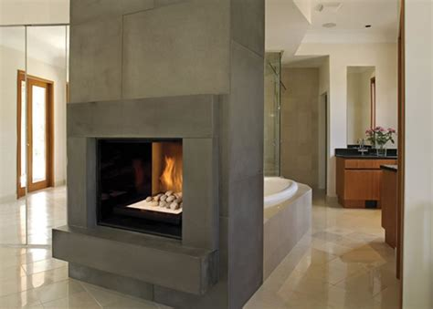Indoor Modern Fireplace by Tc36 See Through Gas Fireplace Modern Indoor