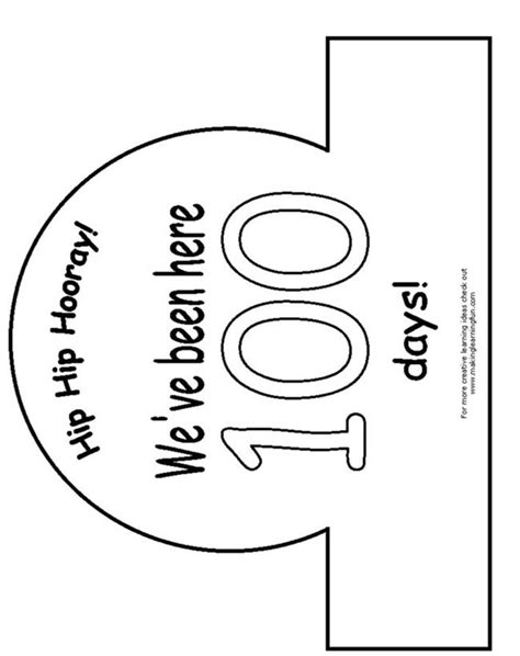 100th Day Of School Crown Template by 17 Best Images About Arts And Crafts On