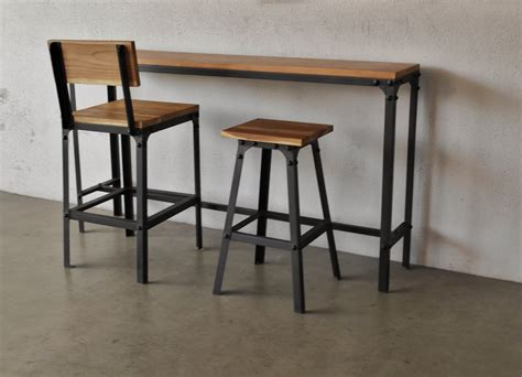 bar top tables and chairs industrial furniture as trendy as midcentury modern