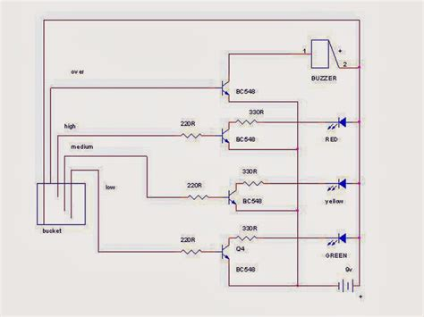 bc548 transistor circuit mini project water level indicator using bc548 transistor jpr notes