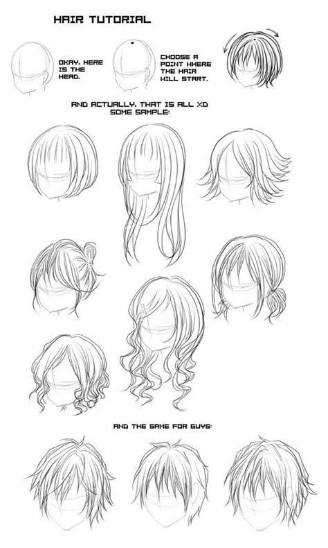 hair and head types different types of anime and manga hair styles manga