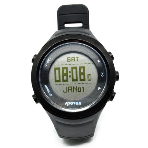 spovan gl006g jam tangan olahraga lari smartwatch gps heartrate black jakartanotebook