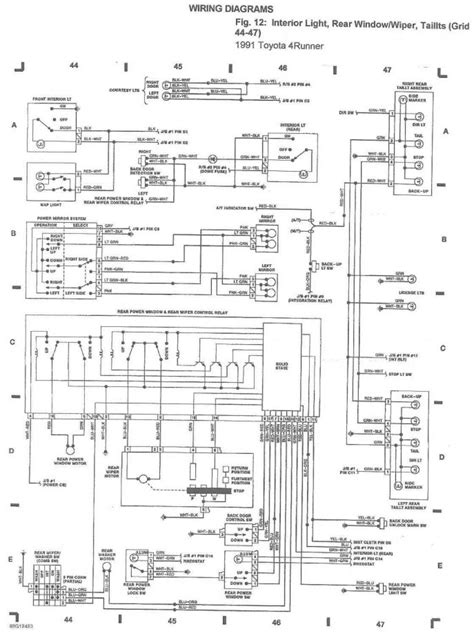1991 toyota 4runner automatic transmission wiring diagrams