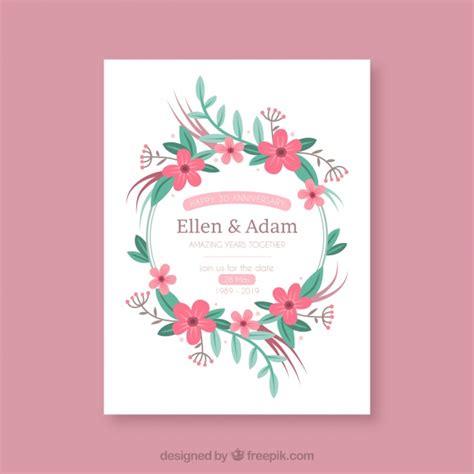 fiori anniversario di matrimonio carta di anniversario di matrimonio con ghirlanda di fiori